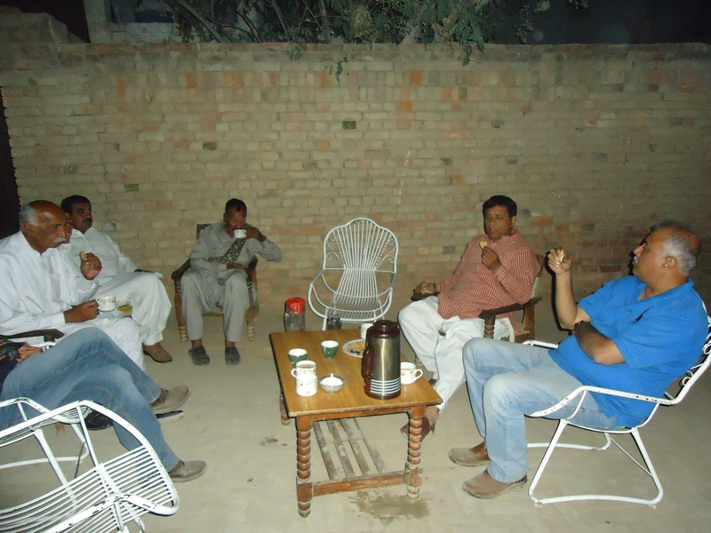 On tea out side my house