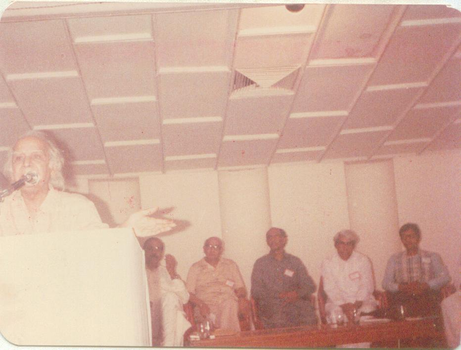 Golden Jobli of Anjman Tarriqi pasand Musnifeen at Karachi 1986